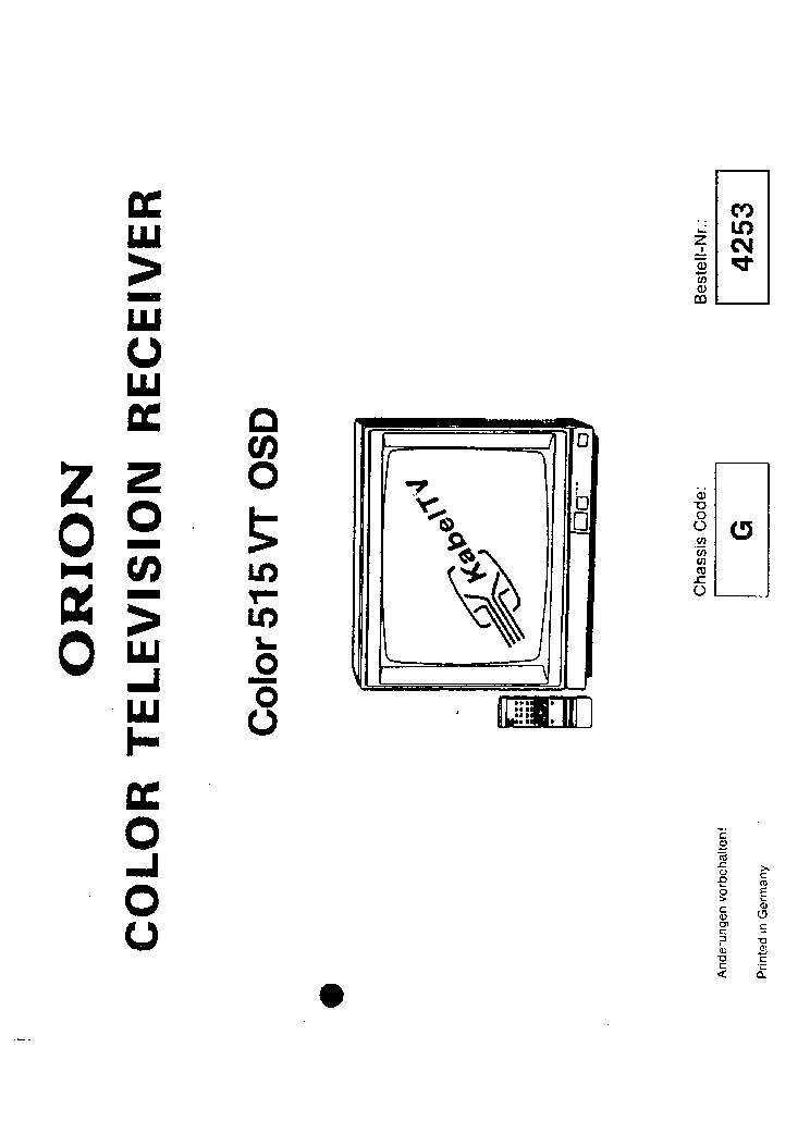 ORION COLOR-515VT OSD CHASSIS G SM Service Manual download