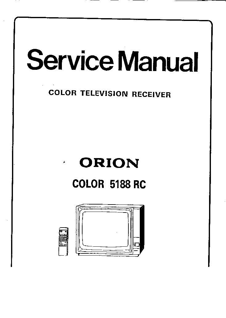 ORION COLOR 5188 RC Service Manual download, schematics