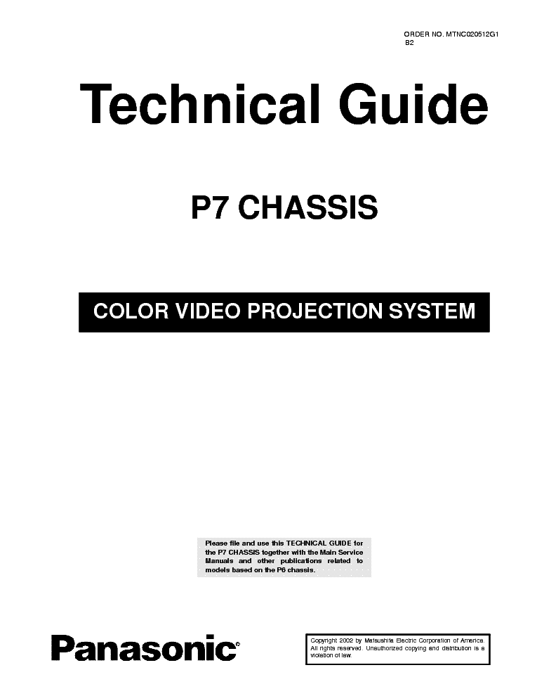 PANASONIC TV 2150 POWER SUPPLY Service Manual free