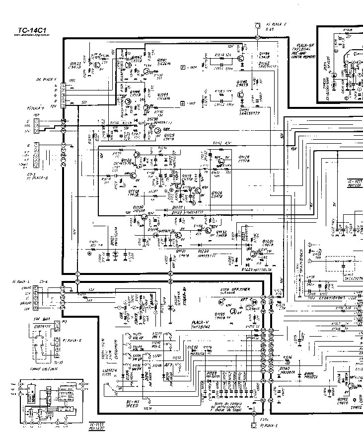 PANASONIC TC-14C1 Service Manual download, schematics