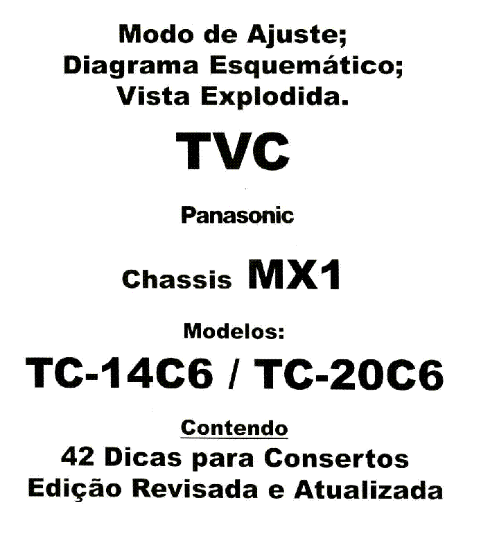 PANASONIC TC-14C6,20C6 MX1 Service Manual download