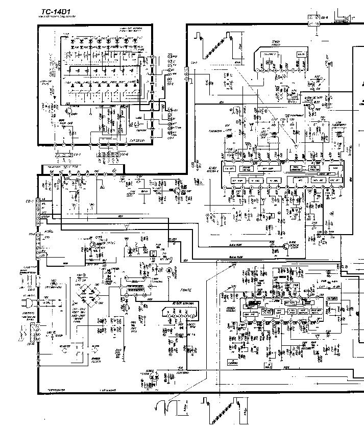 PANASONIC TC-14D1 Service Manual download, schematics