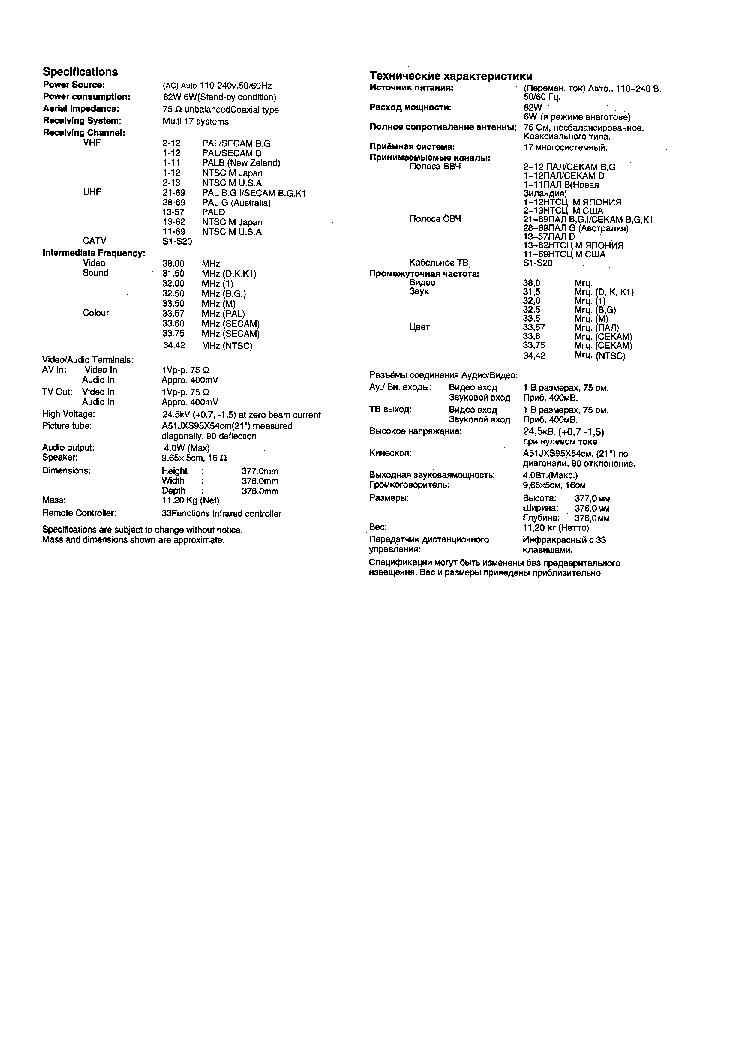 PANASONIC TC-14L3R Service Manual download, schematics