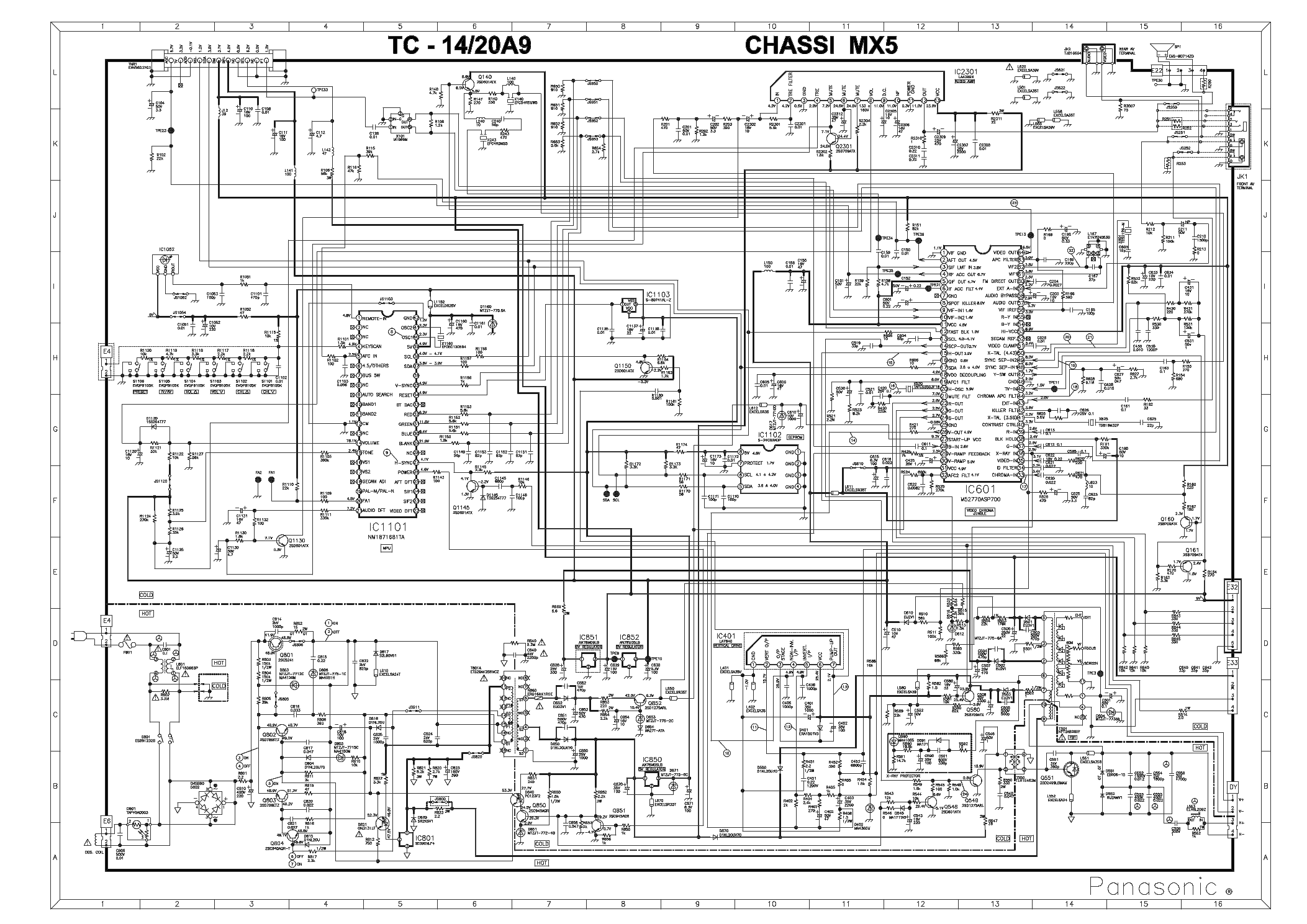 PANASONIC TC-20A10 Service Manual download, schematics