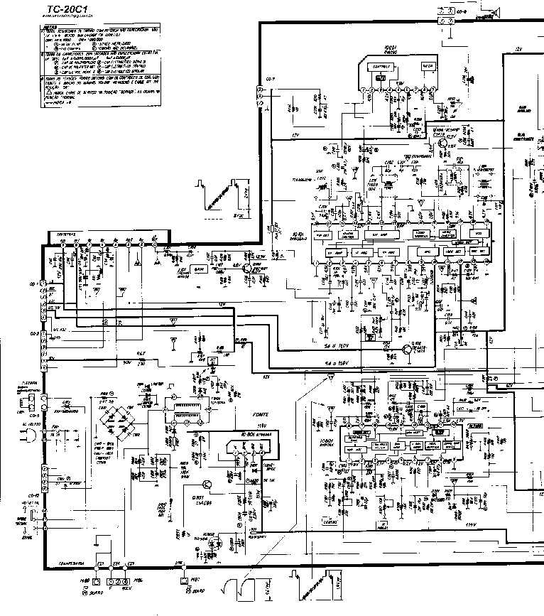 PANASONIC TC-20C1 Service Manual download, schematics