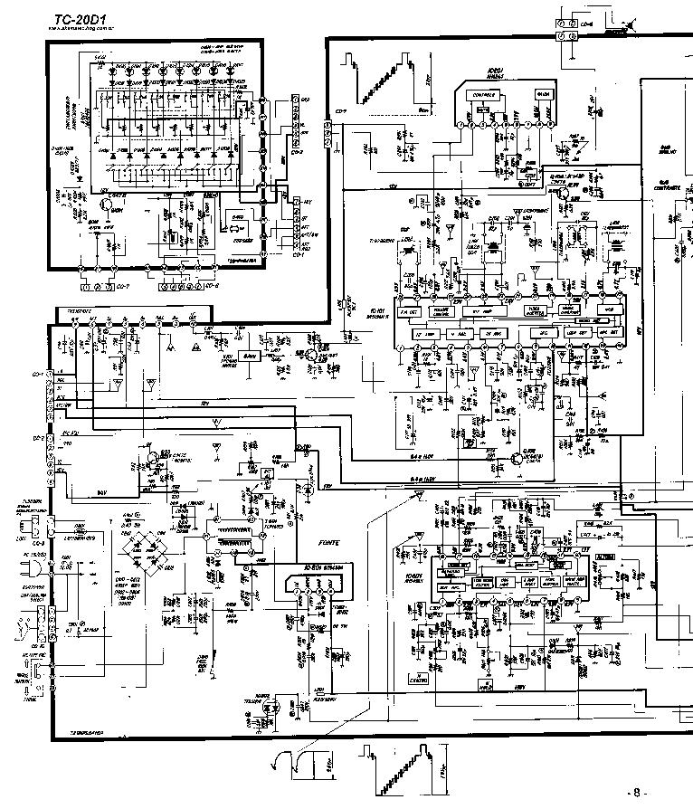 PANASONIC TC-20D1 Service Manual download, schematics