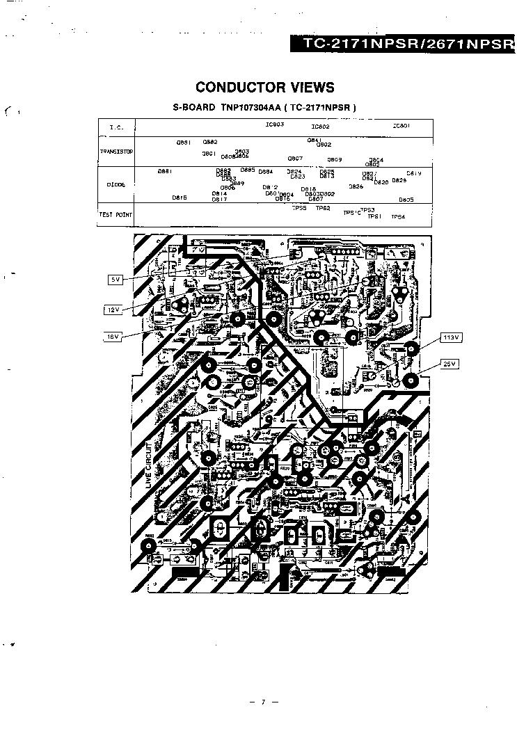 PANASONIC TC-2171 Service Manual download, schematics