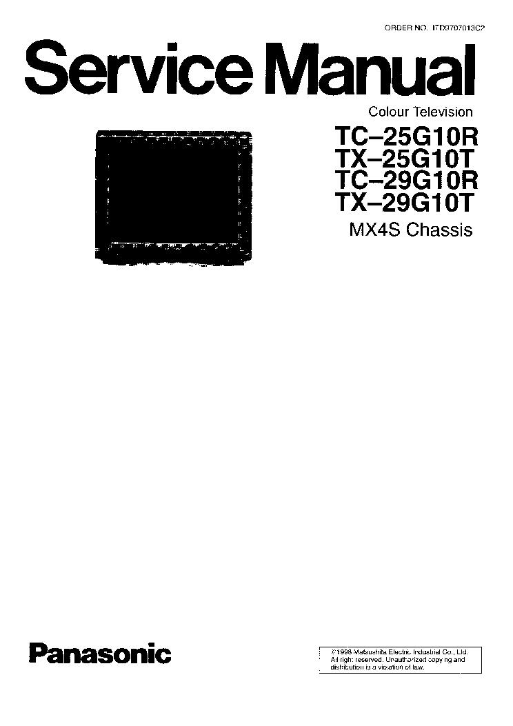 PANASONIC TC-25G10R TX-25G10T TC-29G10 TX-29G10 CH MX4S