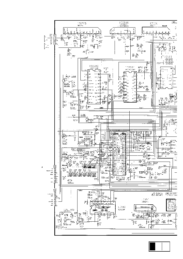 PANASONIC TC-25V20R Service Manual download, schematics