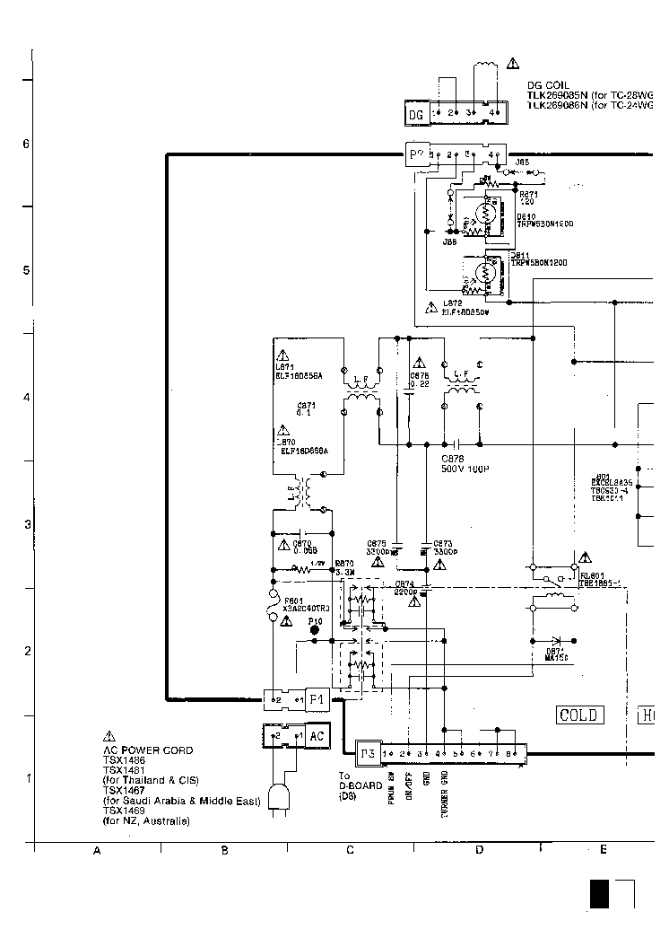 PANASONIC TC-28WG12H Service Manual download, schematics