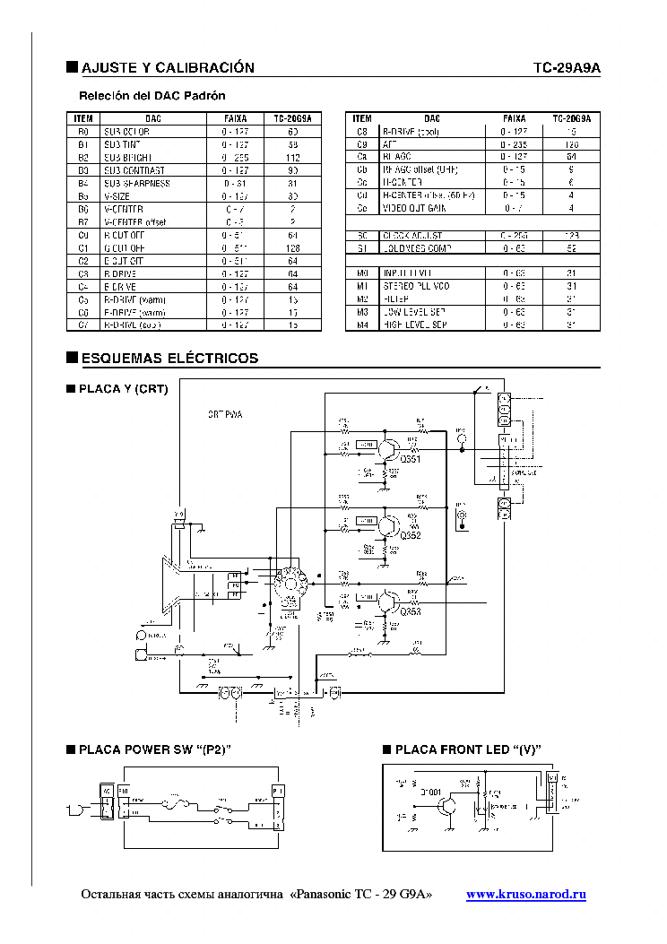 PANASONIC TC-29A9A CH BR1L Service Manual download