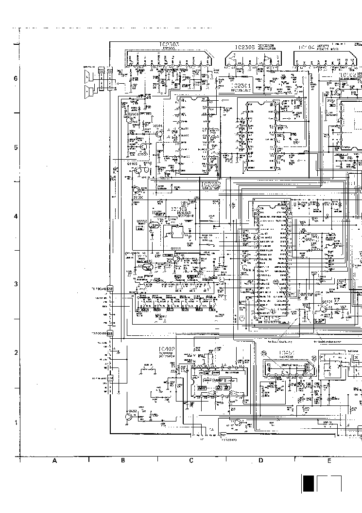 PANASONIC TC-29C50R Service Manual download, schematics