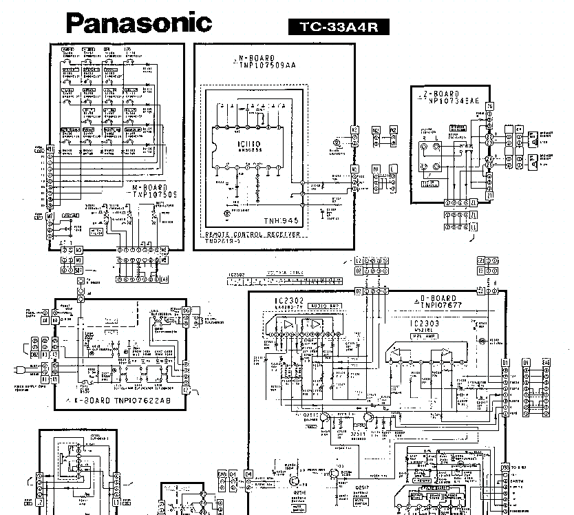 PANASONIC TC-33A4 SCH Service Manual download, schematics