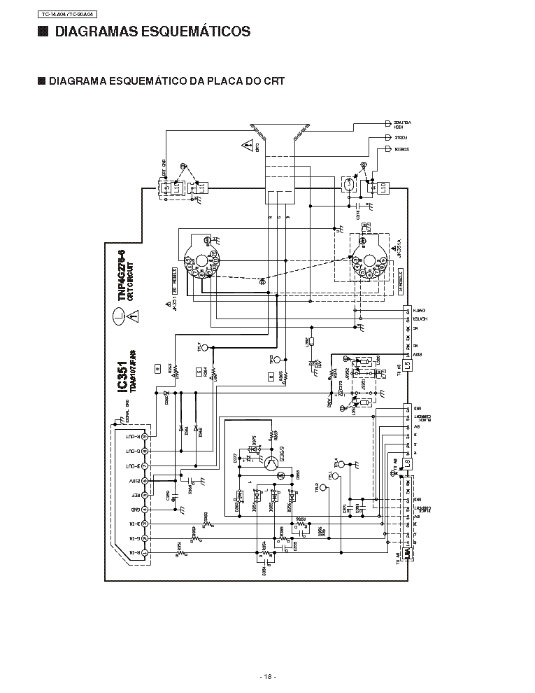 PANASONIC TC 14 20A04 Service Manual download, schematics