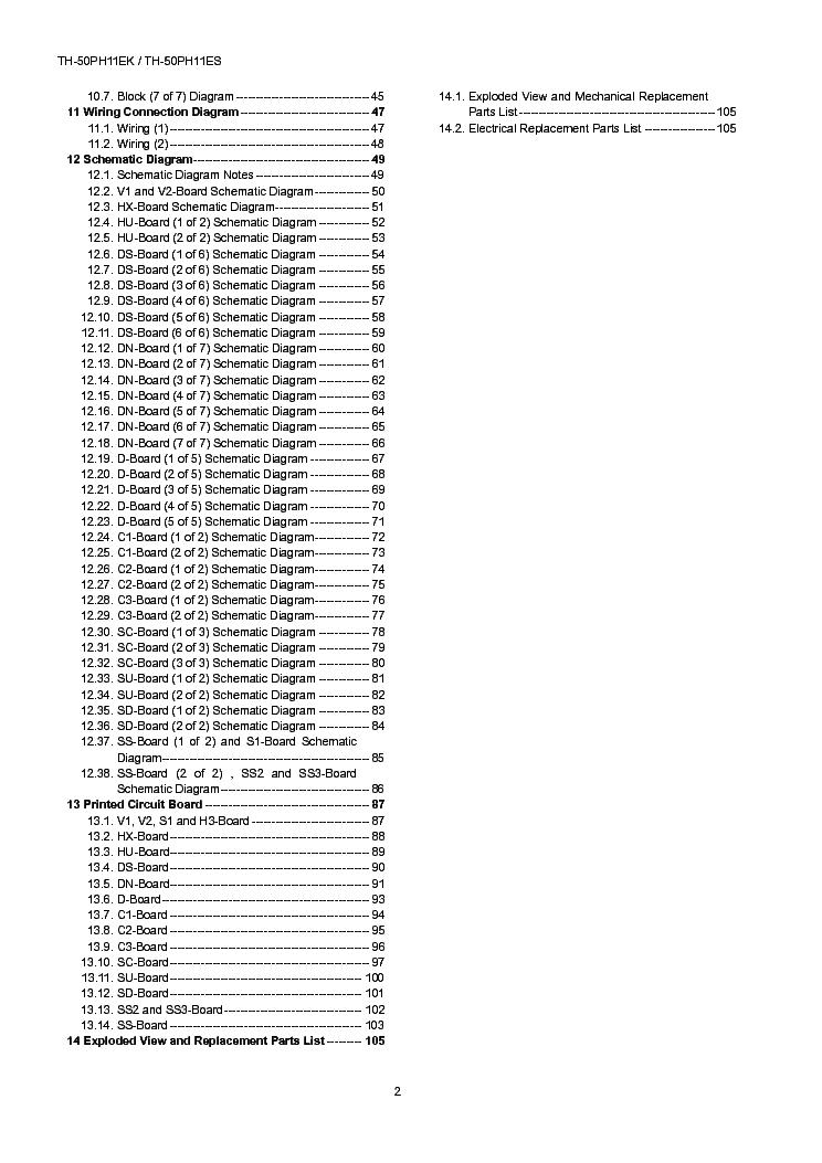PANASONIC TH-50PH11EK ES GPF11DE CHASSIS SM Service Manual