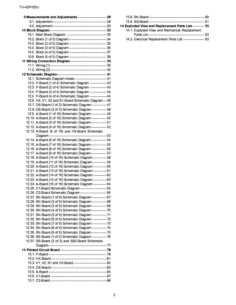 PANASONIC TH 42PH20U CH GPH13D Service Manual download