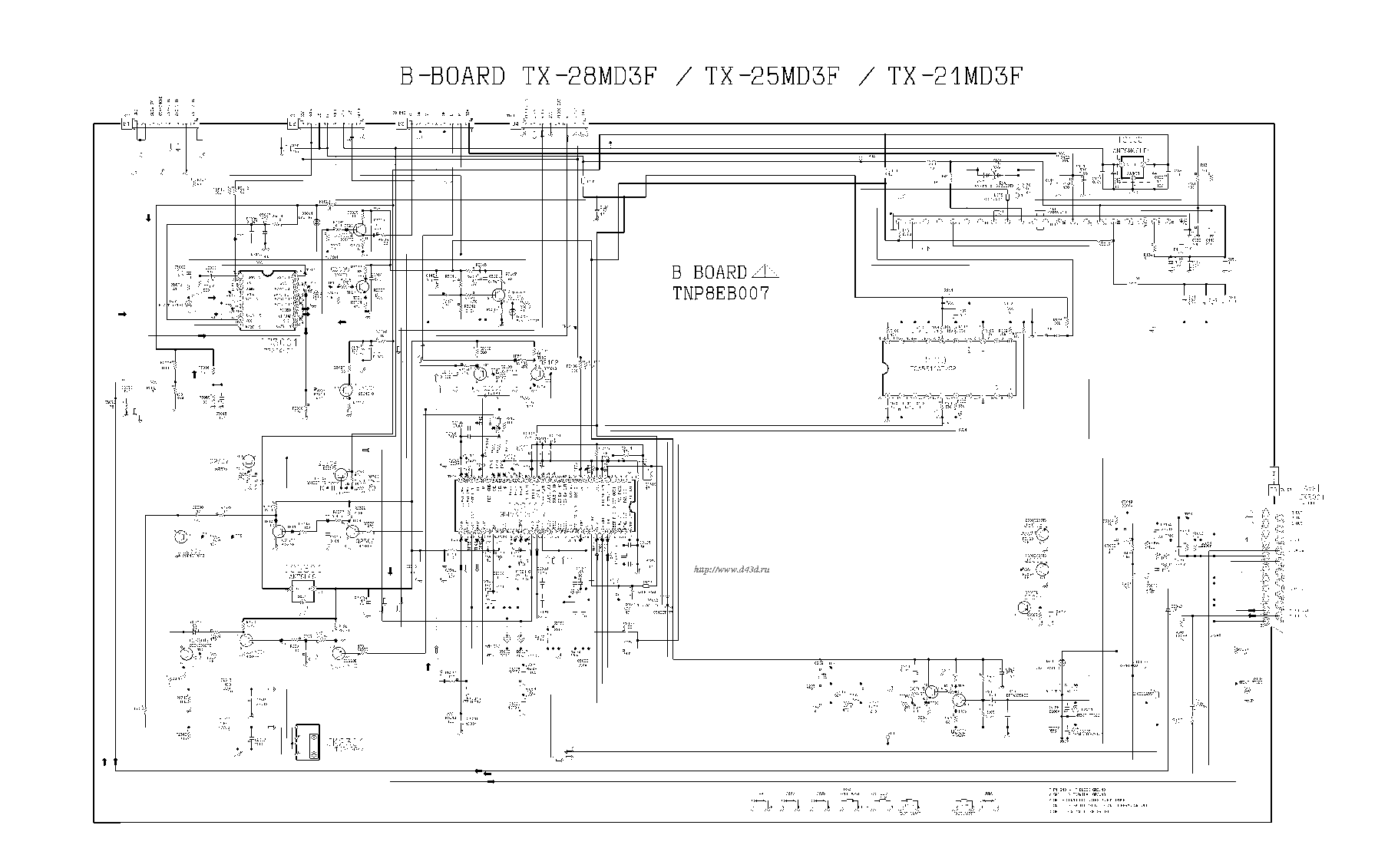 PANASONIC TX-28MD3F Service Manual download, schematics