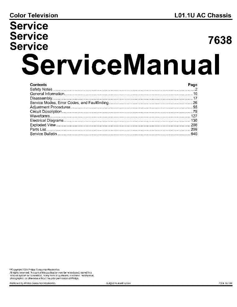 PHILIPS 20DV6932-37R CHASSIS L01.1U AC Service Manual