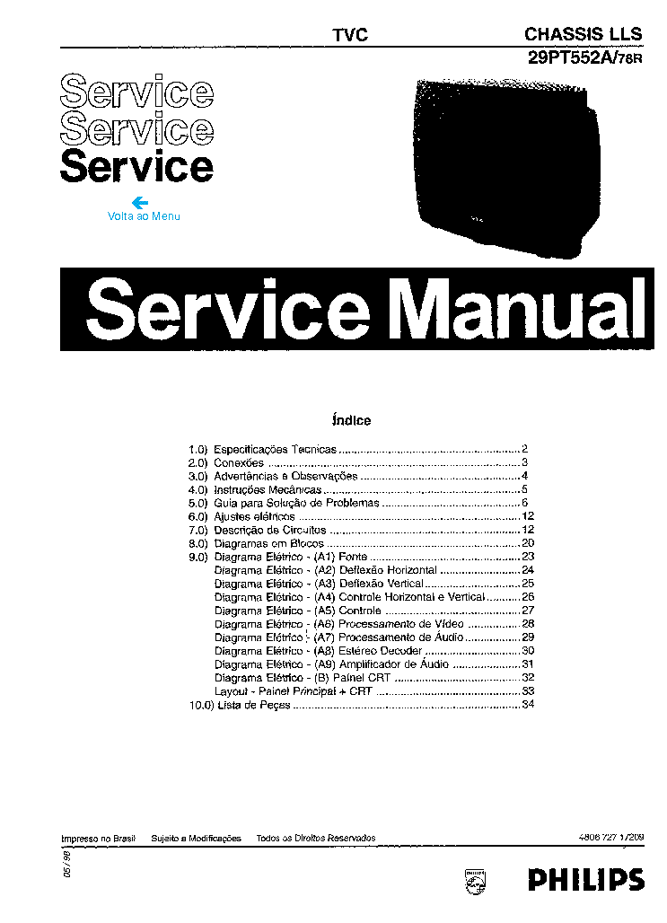 Philips Tv Chassis Gr24 Aa Service Manual