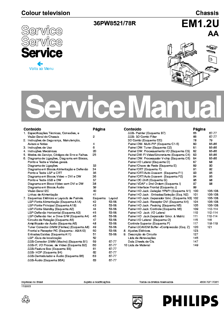 PHILIPS L7.2E Service Manual free download, schematics