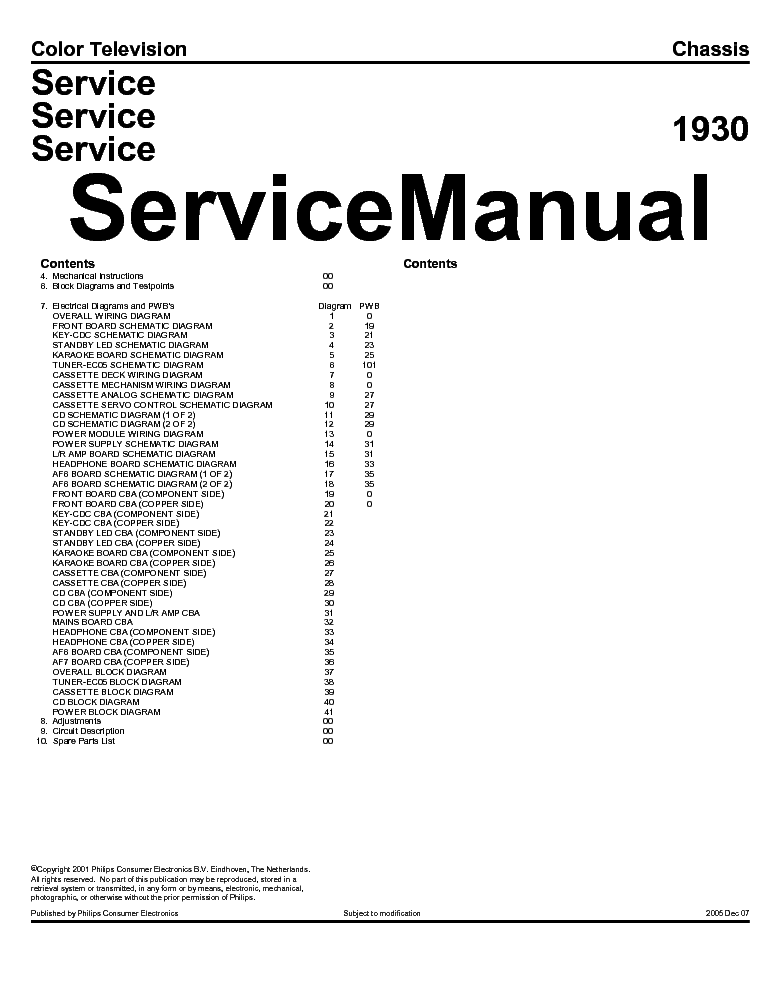PHILIPS TV CH LC4.2E AA SERVICE MANUAL Service Manual free