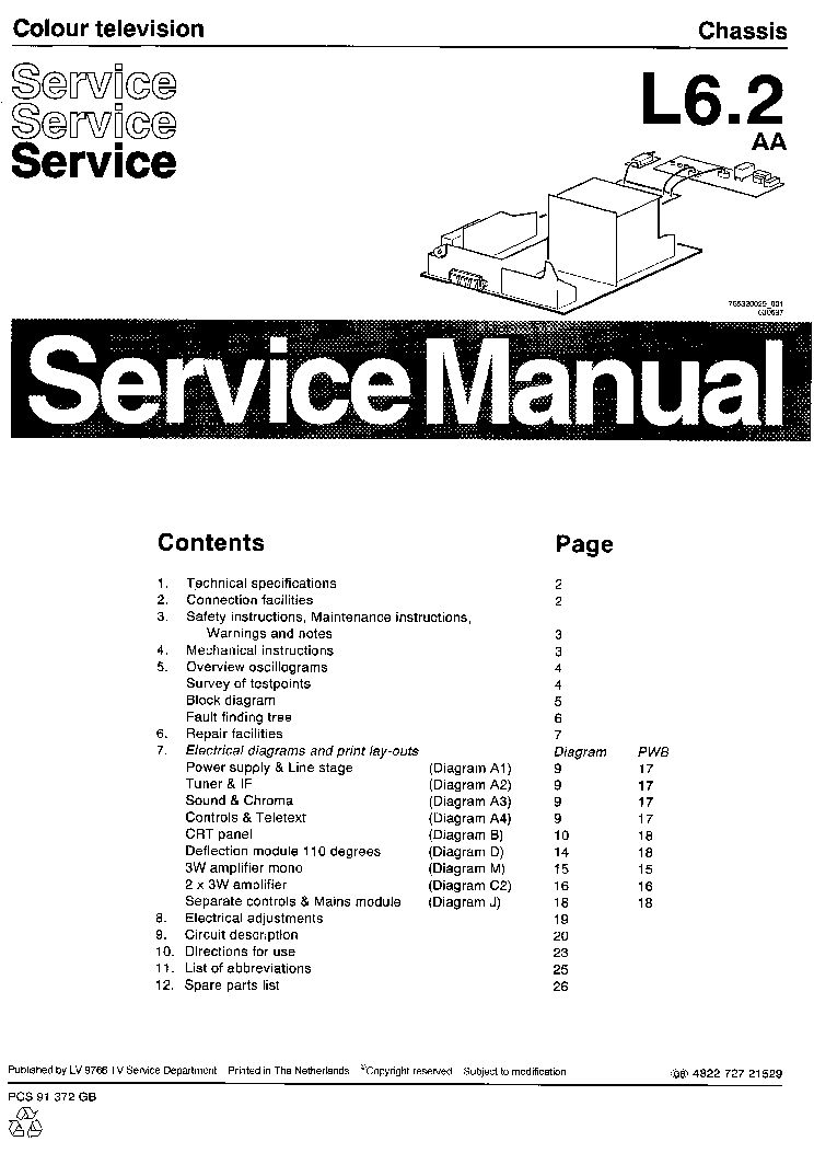 PHILIPS CHASSIS L6.2-AA SCH Service Manual download