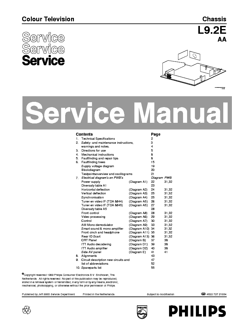 PHILIPS CHASSIS L9.2E-AA Service Manual download