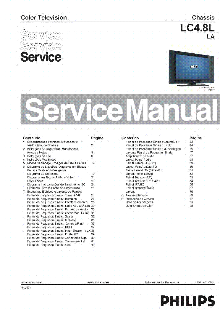 PHILIPS LC7.2ELB 312278517171 19PFL532212 Service Manual