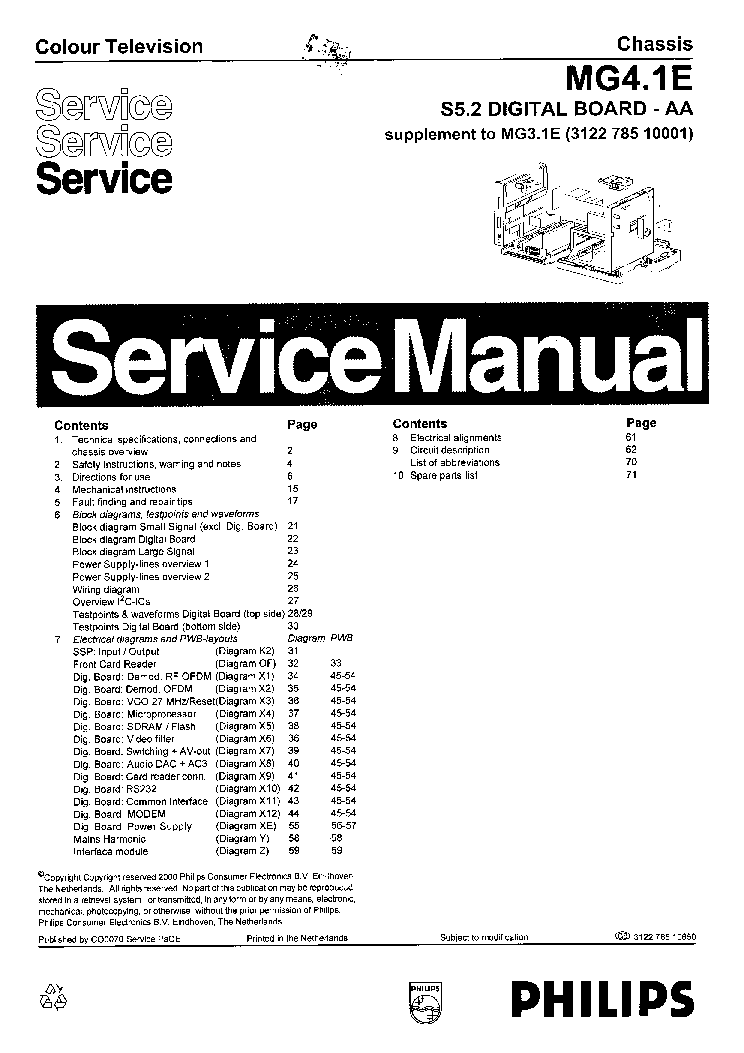PHILIPS 32PFL3605 Service Manual free download, schematics