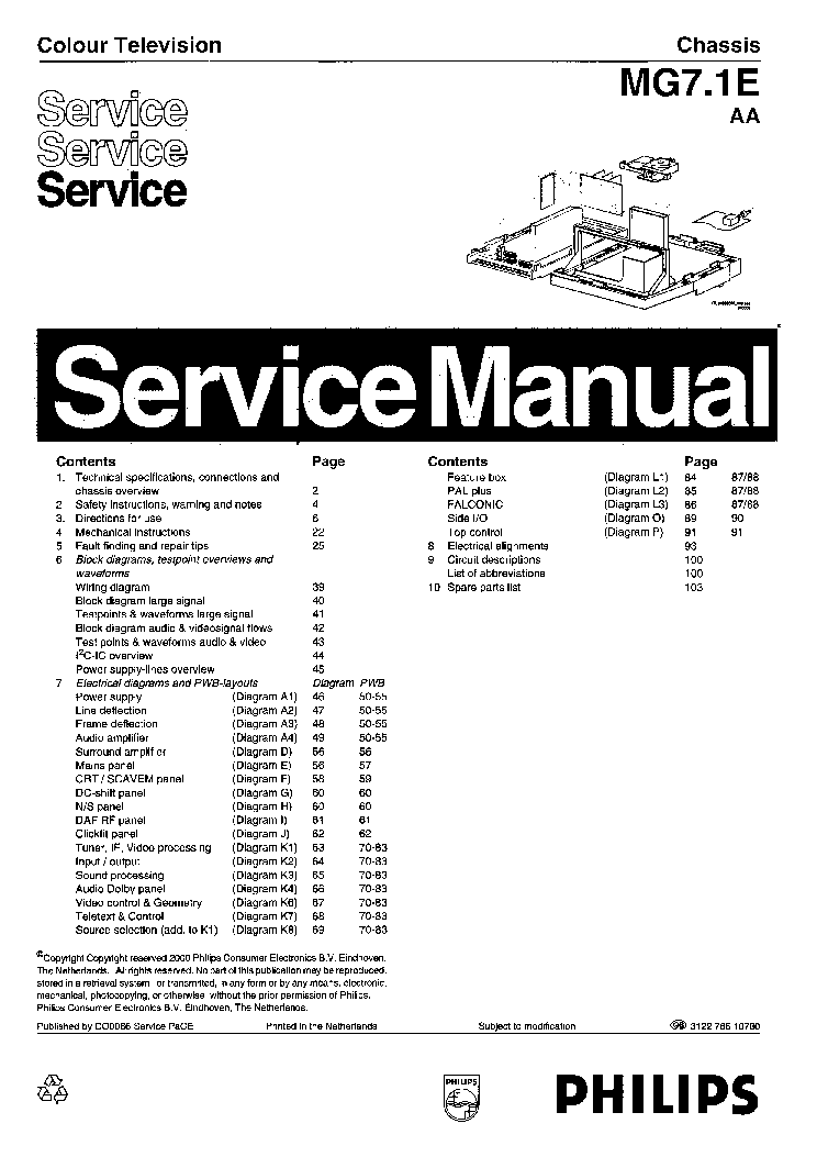 PHILIPS CHASSIS L01.1E-AA SCH Service Manual free download