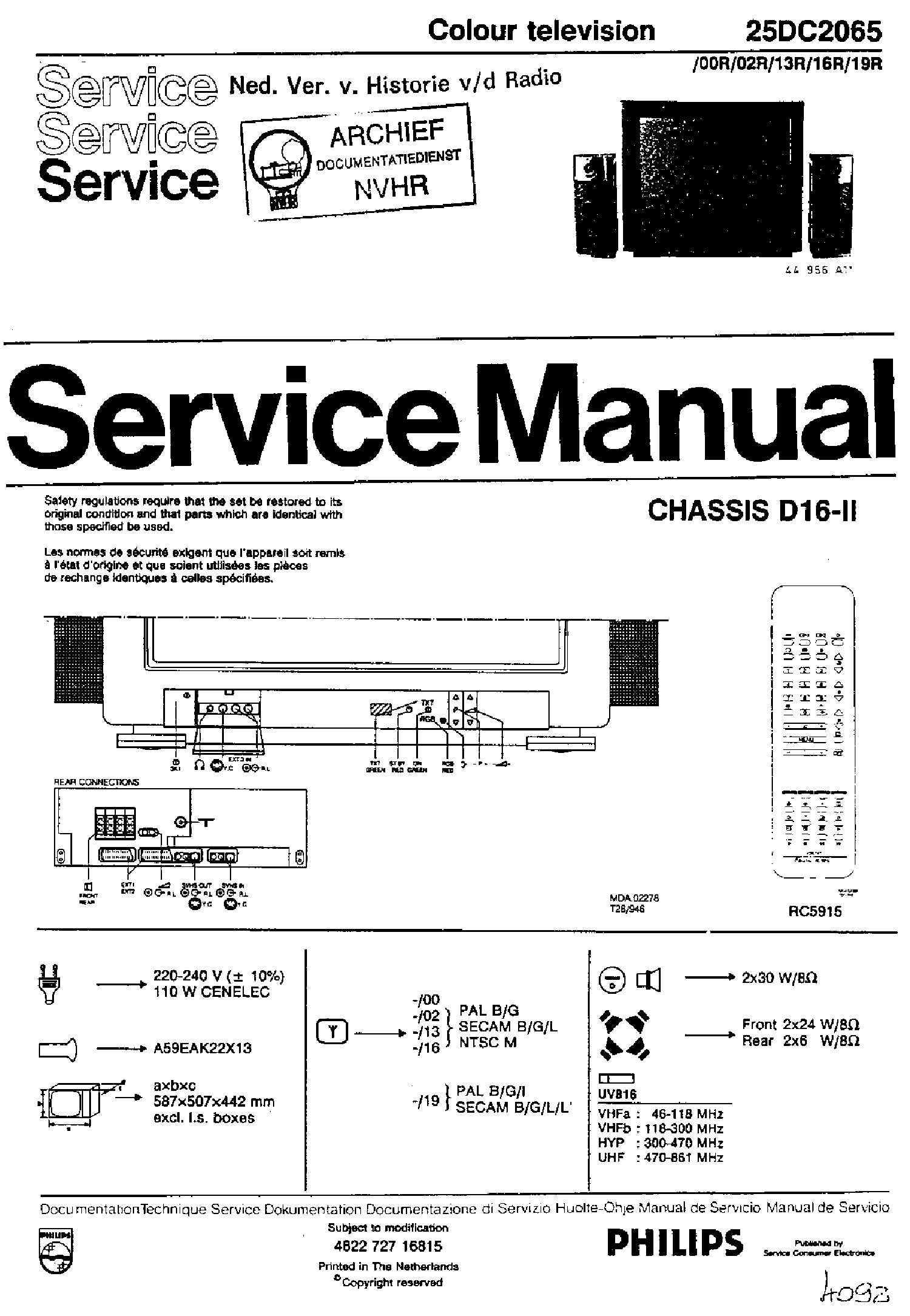 PHILIPS A10E-AA CHASSIS Service Manual download