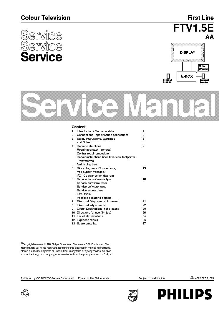 PHILIPS TV CH LC4.2E AA SERVICE MANUAL Service Manual