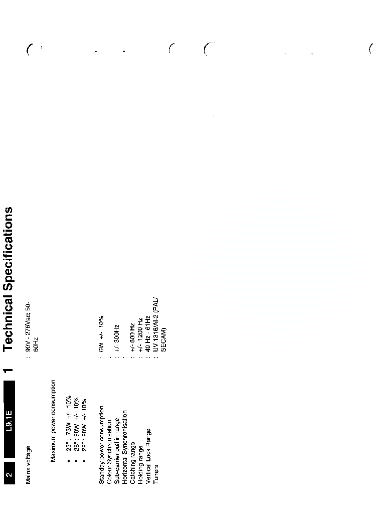 PHILIPS L9 1E Service Manual download, schematics, eeprom