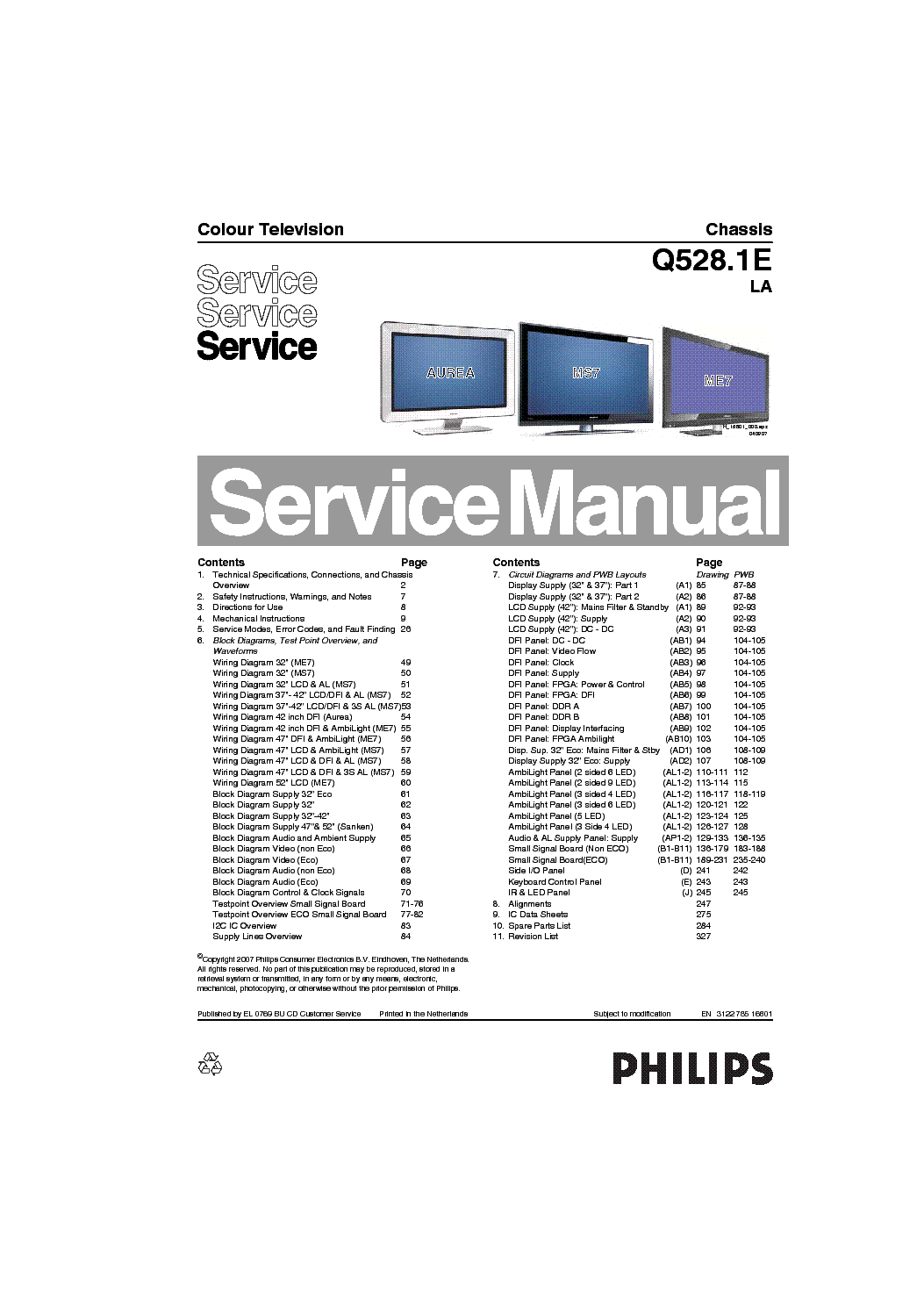 PHILIPS CHASSIS KT4 SCH Service Manual free download