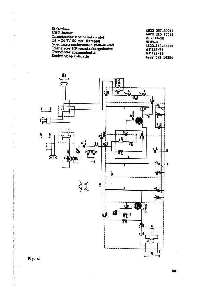 PHILIPS UVC-2 UHF CONVERTER 1964 SCH Service Manual