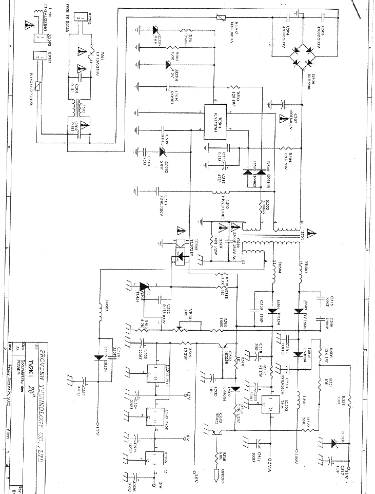 PROVISION TV84 SCH Service Manual download, schematics