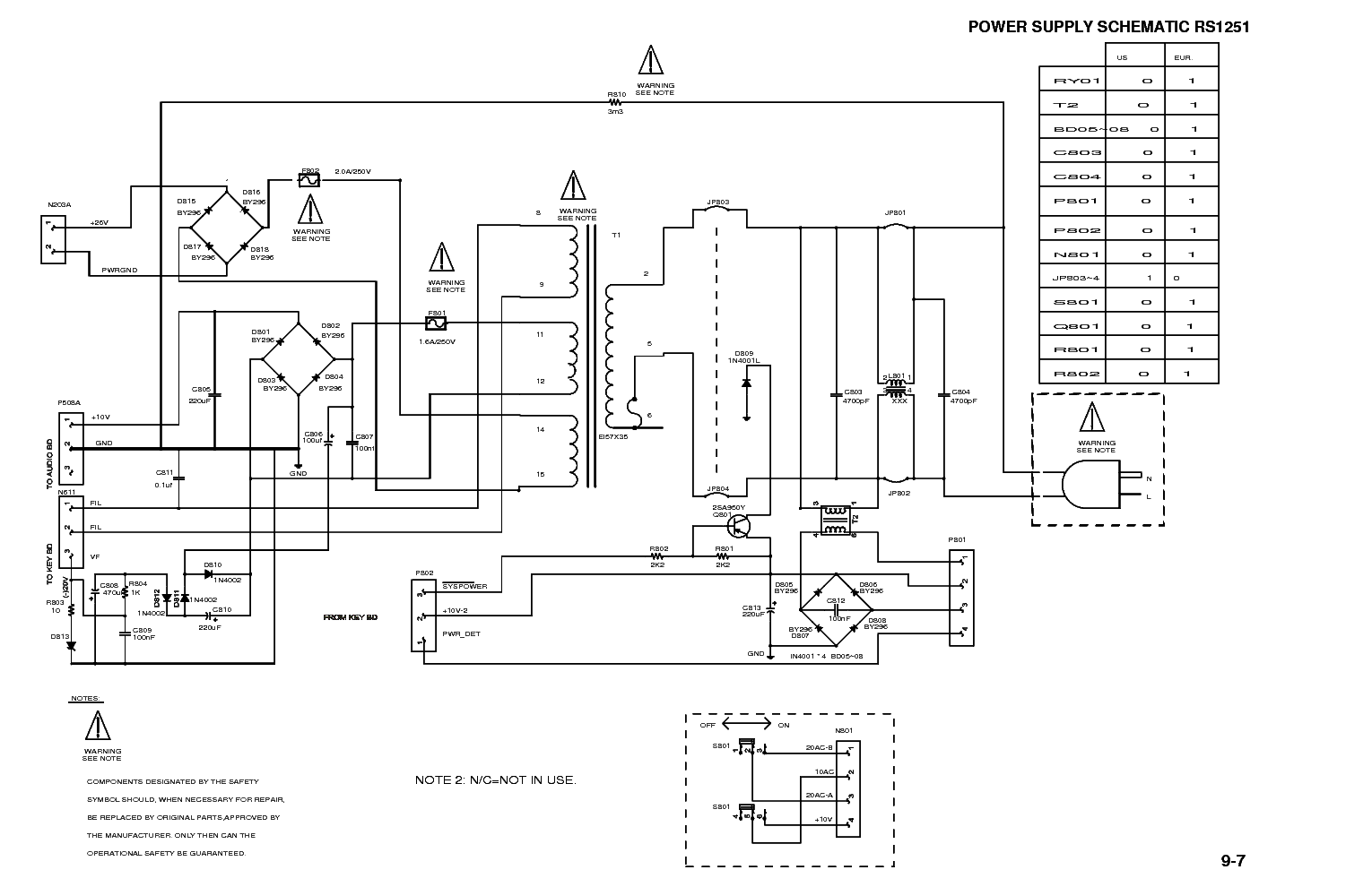 RCA RS1251 Service Manual download, schematics, eeprom