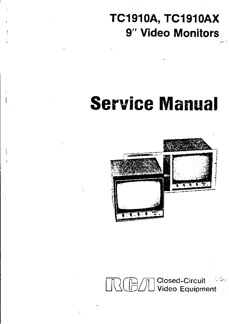 RCA TC1910A TC1910AX VIDEO MONITOR SM Service Manual