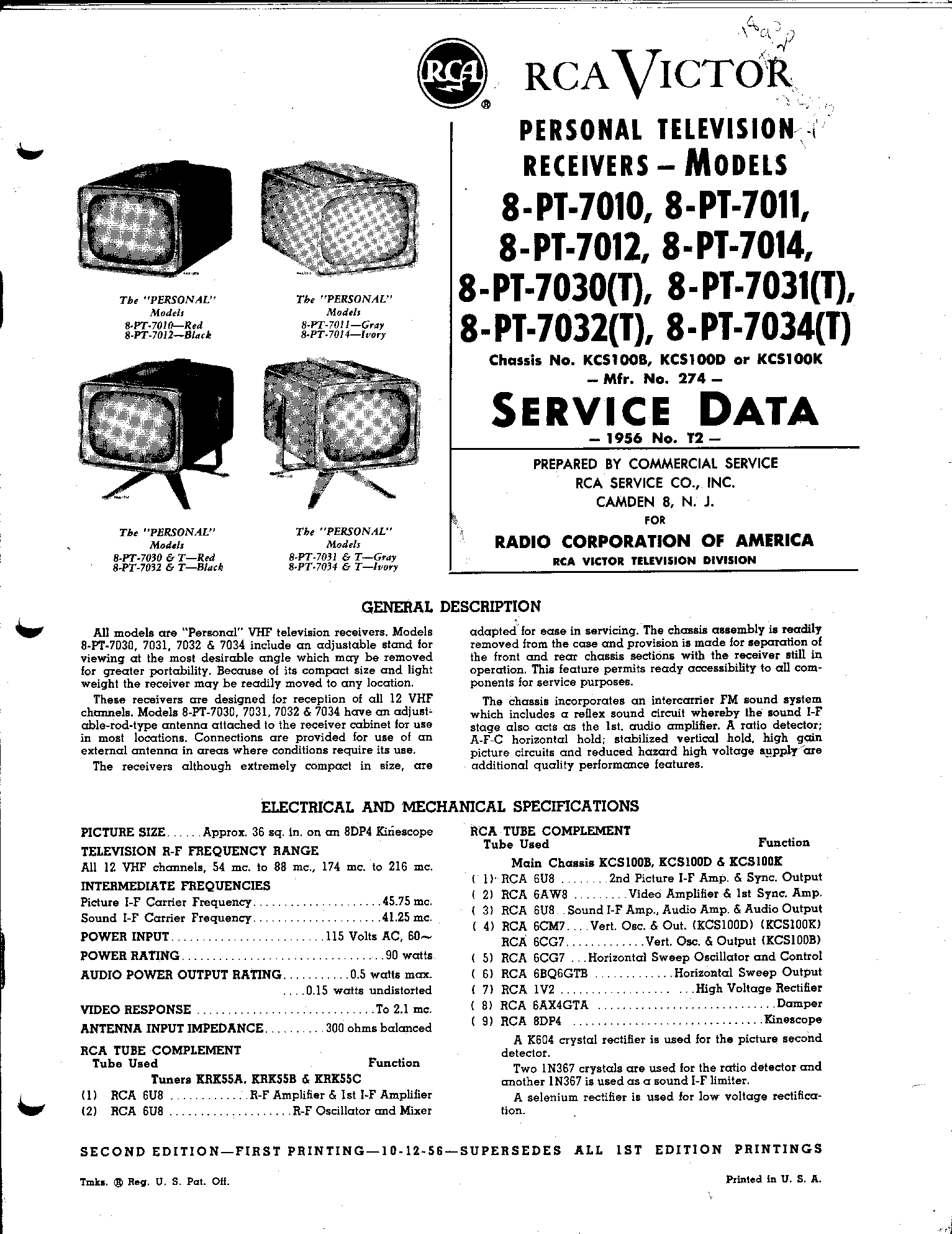 RCA RBA-2020 Service Manual free download, schematics