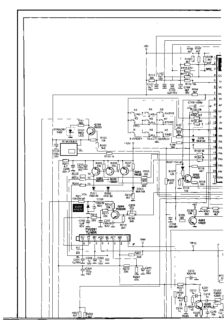 RECOR RC4220PS RC4221PS RC4320PS RC4421PS SCH Service