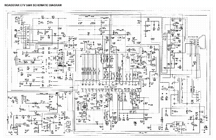 ROADSTAR CTV 5501 Service Manual download, schematics