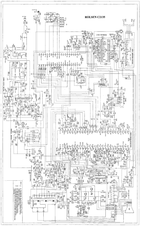 ROLSEN C2135 Service Manual download, schematics, eeprom
