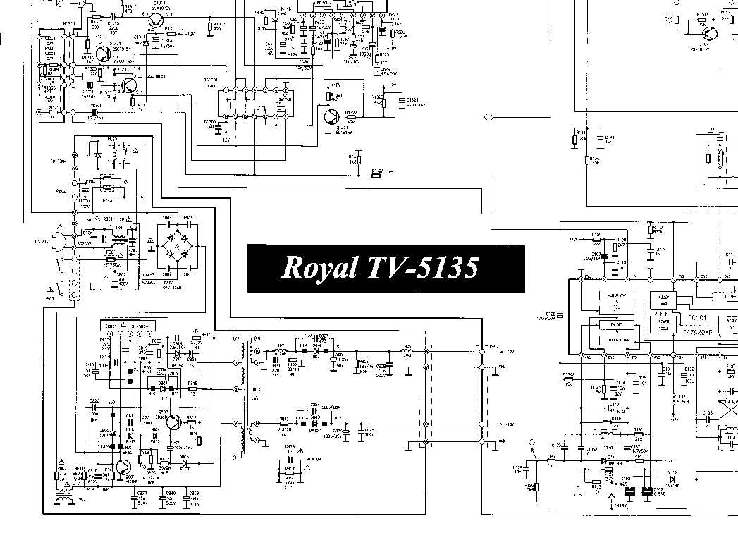 ROYAL TV5125 M50431 101SP STR41090 Service Manual download