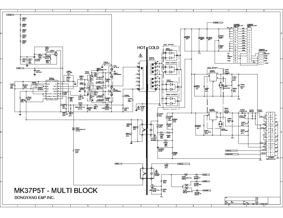 SAMSUNG BN44-00220A POWER SUPPLY SCH Service Manual