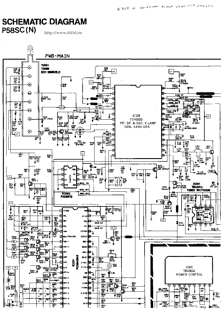 SAMSUNG CB3312Z Service Manual download, schematics