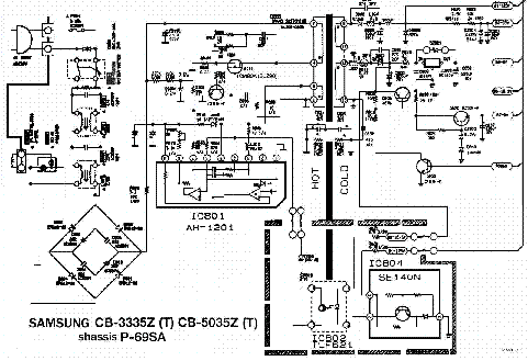 SAMSUNG CB3335Z,5035Z CH P69SA POWER SUPPLY Service Manual
