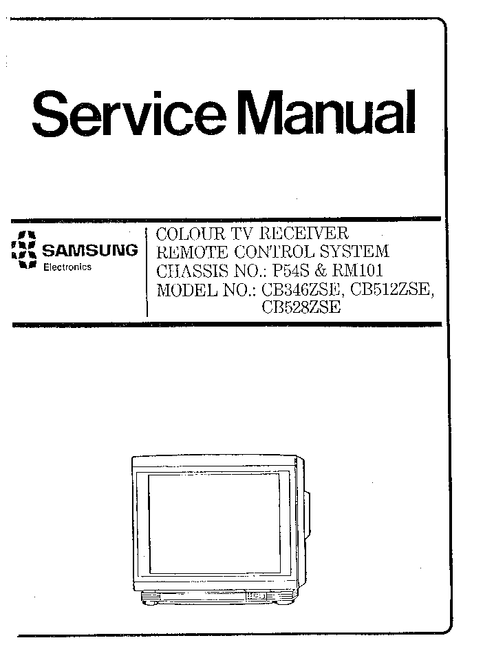 SAMSUNG CB346ZSE CB536ZSE CHASSIS P54S Service Manual