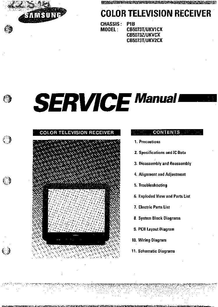 SAMSUNG CB5073T,Z CH P1B SM Service Manual download
