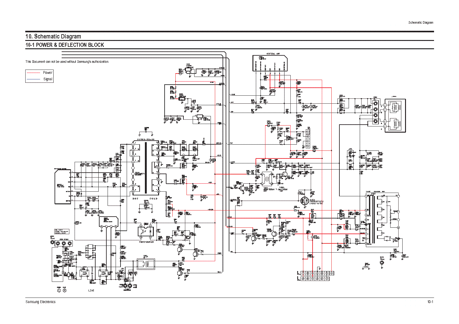 hight resolution of samsung chassis s16a schematic service manual 1st page