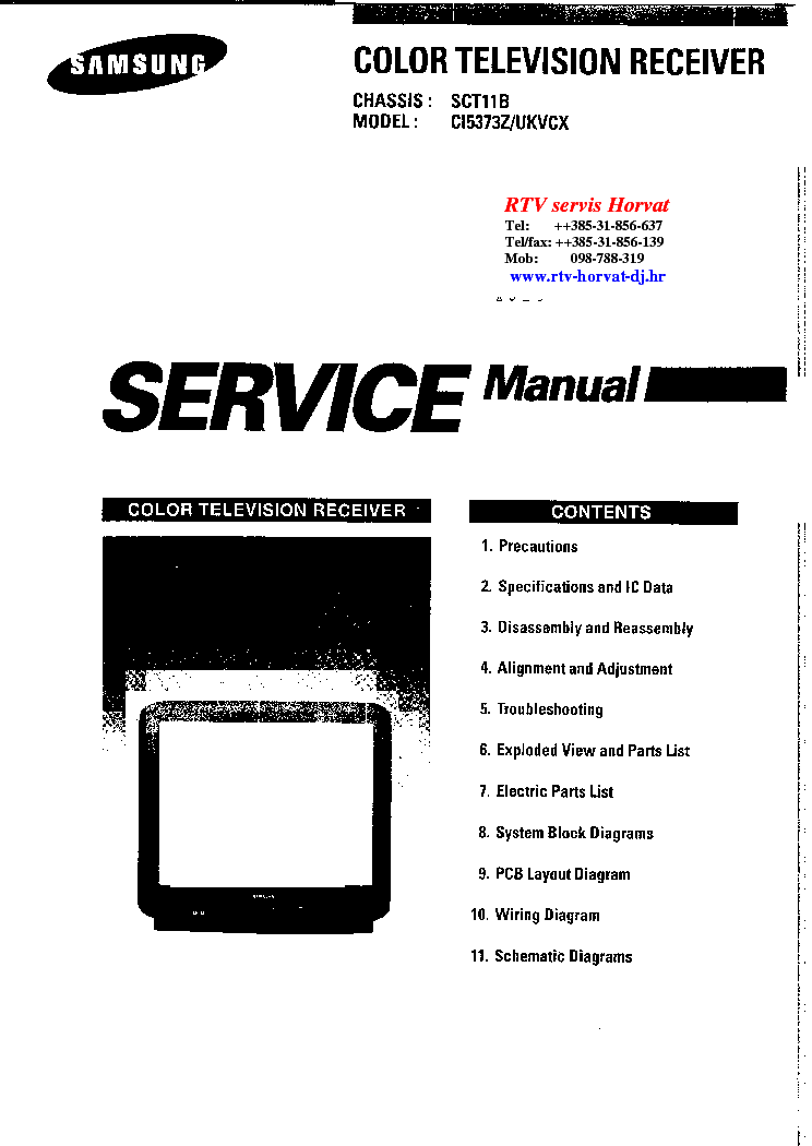 SAMSUNG CHASSIS SCT11B CI5373Z Service Manual download